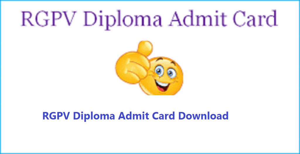 RGPV Diploma Admit Card