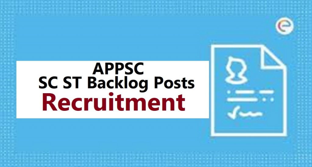 AP SC ST Backlog Posts Recruitment 2020 Selection Process & Apply Online
