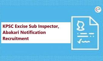 KPSC Excise Sub Inspector, Abakari Notification 2020 Recruitment